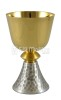 Chalice tall with foot hammered