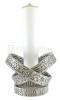 Candeliere fuso in ottone con anelli